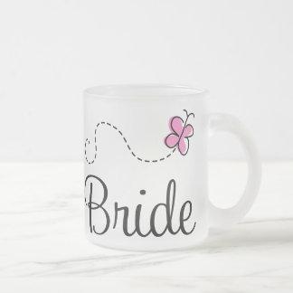 Pretty Pink Butterfly Wedding Bride Mug