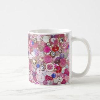 Pretty Pink Button Collage Mug