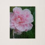 Pretty Pink Camelia Jigsaw Puzzle