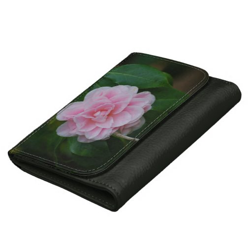 Pretty Pink Camelia Leather Wallets