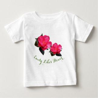 pretty pink camellia flower. Little girl likes Baby T-Shirt