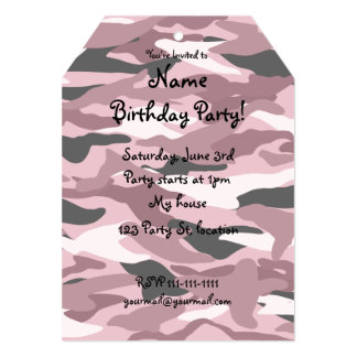 Pretty pink camouflage card