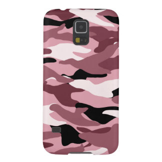 Pretty pink camouflage galaxy s5 cover