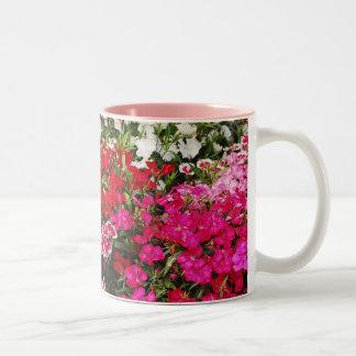 Pretty pink carnation print mug