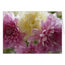 Pretty Pink Carnations Happy Birthday Mom Card