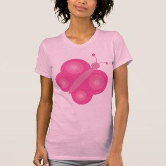 Pretty pink cartoon butterfly T-shirt