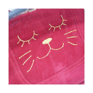 Pretty Pink Cat Handbag Canvas Print