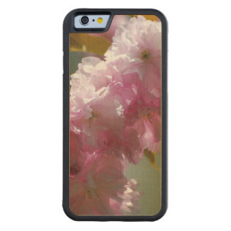 Pretty Pink Cherry Blossoms Carved Maple iPhone 6 Bumper Case