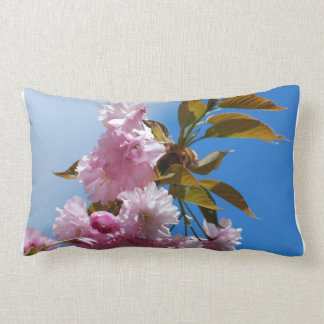 Pretty Pink Cherry Tree Lumbar Pillow