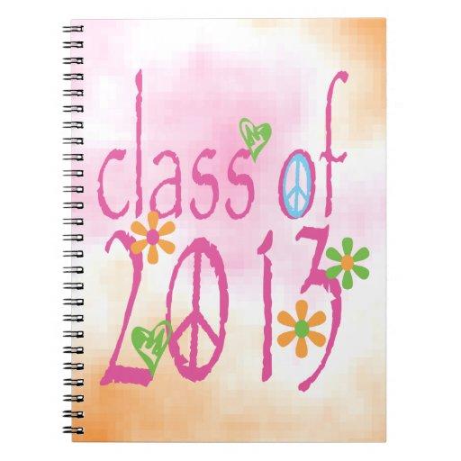 Pretty Pink Class OF 2013 Spiral Note Book