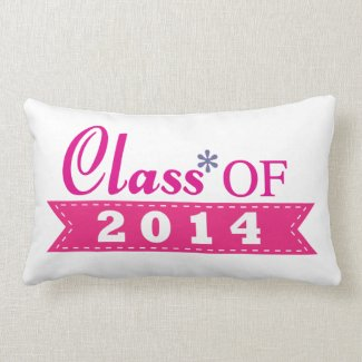 Pretty Pink Class of 2014 Throw Pillow