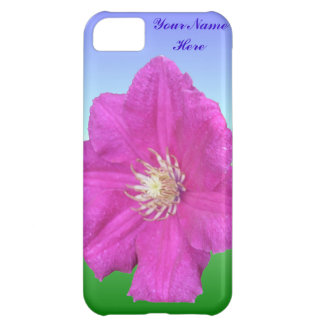 Pretty Pink Clematis Flower Cover For iPhone 5C
