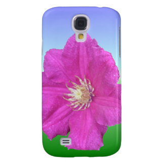 Pretty Pink Clematis Flower Galaxy S4 Case