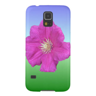 Pretty Pink Clematis Flower Galaxy S5 Covers