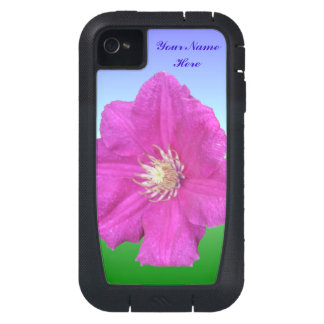 Pretty Pink Clematis Flower iPhone4 Case