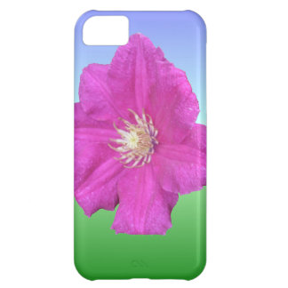 Pretty Pink Clematis Flower iPhone 5C Cases