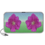 Pretty Pink Clematis Flower Travel Speakers
