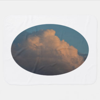 pretty pink cloud formation florida baby blankets