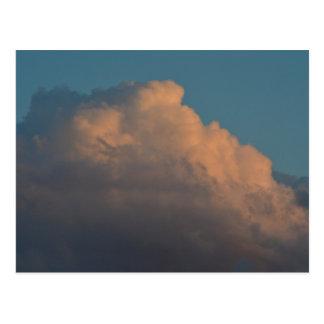 pretty pink cloud formation florida postcard