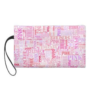 Pretty pink clutch bag