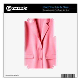 Pretty Pink Coat Collar iPod Touch 4G Decal
