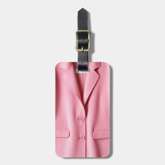 Pretty Pink Coat Collar Luggage Tag
