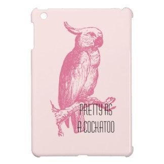 Pretty Pink Cockatoo iPad Mini Cover