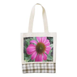 Pretty Pink Coneflower Zazzle HEART Tote Bag