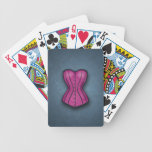 Pretty Pink Corset Bicycle Poker Cards