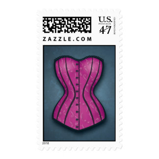 Pretty Pink Corset Postage Stamps