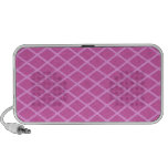 Pretty Pink Criss Cross Pattern iPhone Speakers