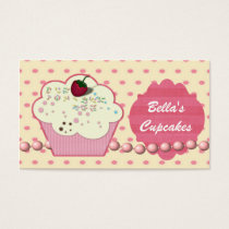 pretty pink cupcake business Cards