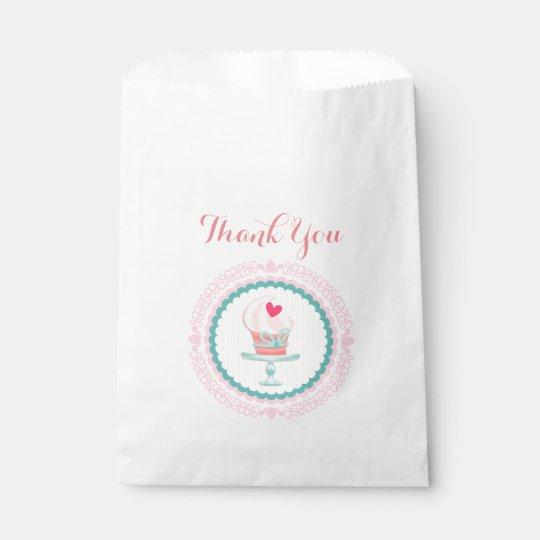 Pretty Pink Cupcake Favor Bag