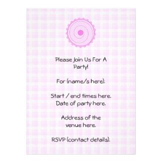 Pretty Pink Cupcake. Personalized Invitations