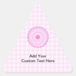 Pretty Pink Cupcake. Triangle Sticker