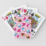 Pretty Pink Cute Cupcakes Print Bicycle Card Decks