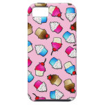 Pretty Pink Cute Cupcakes Print iPhone 5 Cases