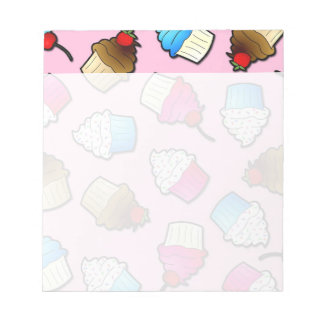 Pretty Pink Cute Cupcakes Print Note Pads