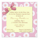 Pretty Pink Daisies Baby Girl Shower Invitation