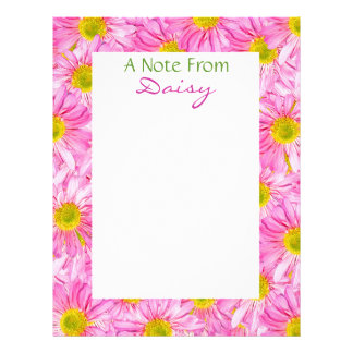 Pretty Pink Daisies From... Stationery Letterhead