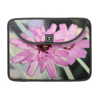 Pretty pink daisy flower. Floral photo art MacBook Pro Sleeves