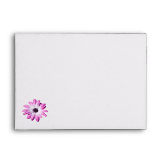 Pretty pink daisy flowers envelope, gift idea envelope