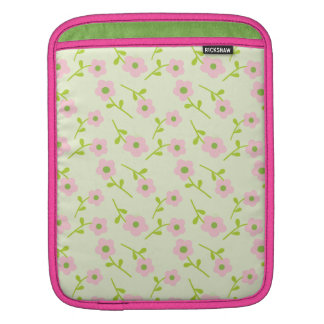 Pretty pink daisy flowers sleeve for iPads