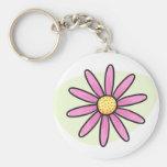 Pretty pink daisy keychain