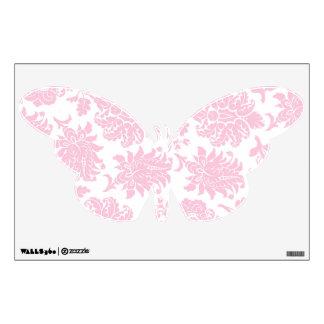 Pretty Pink Damask Butterfly Wall Sticker