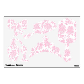 Pretty Pink Damask Large Princess Collection Wall Decal