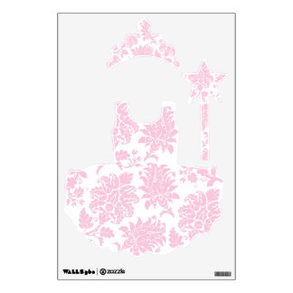 Pretty Pink Damask Princess Collection Wall Decal