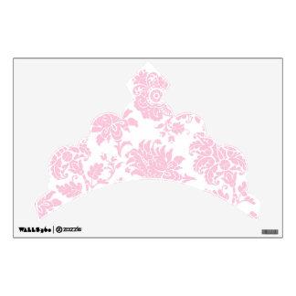Pretty Pink Damask Tiara Room Graphic