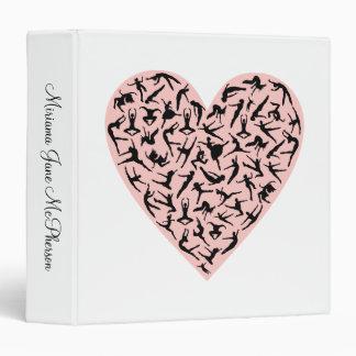 Pretty Pink Dance Heart Binder