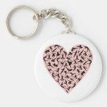Pretty Pink Dance Heart Keychain